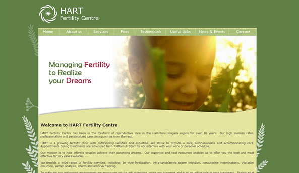 Hart Fertility web design